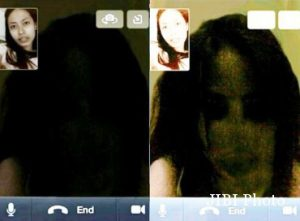 video call dengan hantu