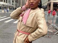 Keke Palmer Wears Coach Leather Trench Dress at the Macy's Thanksgiving Day Parade