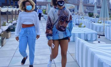 Naomi Osaka Kept It Cozy Following Her Victory in a Noname Tupac Hoodie, Chanel Bag, and Sacai X Nike LD Waffle Sneakers