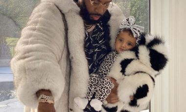 Safaree and His Daughter Safire Kept It Cozy and Cute in Daniel's Leather Fur Coats