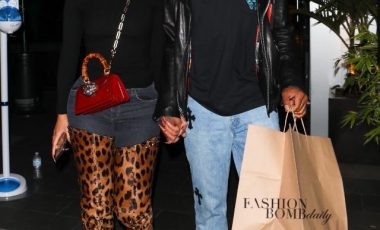 Saweetie in Louboutin 'Metrolisse' Leopard Boots and Gucci Accessories Stepped Out for Date Night With Beau Quavo in Chrome Hearts!