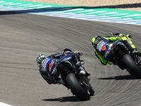 "Vinales ""couldn't breathe"" behind MotoGP team-mate Rossi in Andalusian GP"